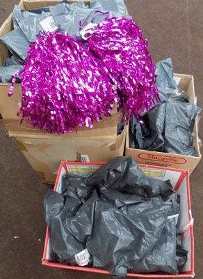 3x Boxes of scrunchies, hairclips etc