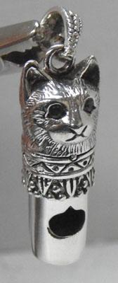 Silver cat whistle