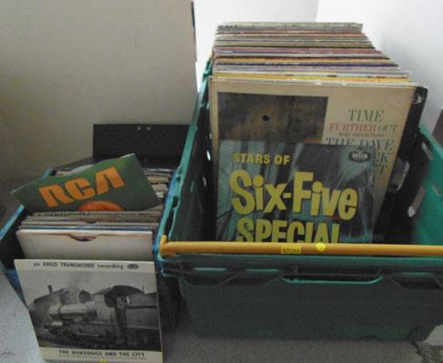"Crate of LPs & box of 7"" - 1960s etc"