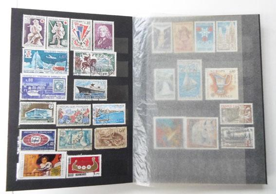 French stamp album