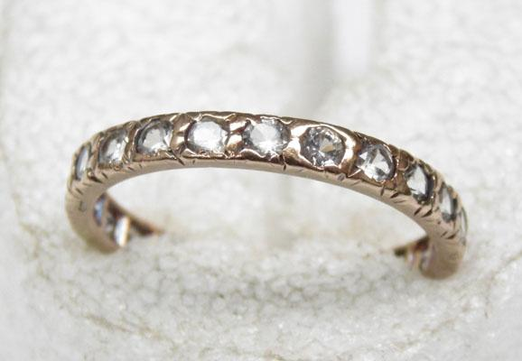 9ct Gold Sapphire full eternity ring size N1/2
