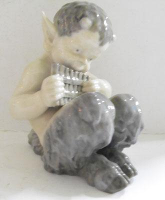 Royal Copenhagen Fawn playing pipes