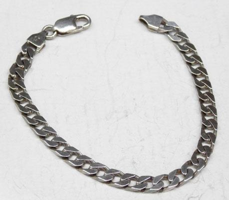925 Heavy silver curb chain bracelet