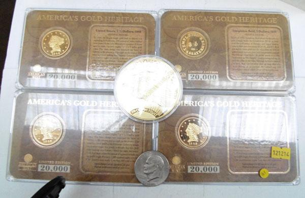 Collection of American coins, some Ltd edition
