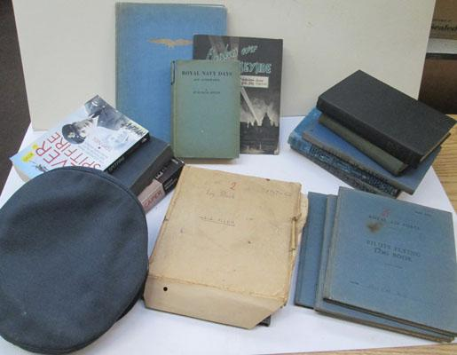 Collection of WWII items incl: pilots log books etc
