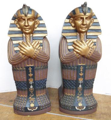 2x Egyptian cabinets