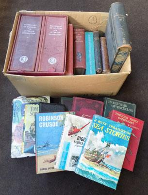 Box of old books