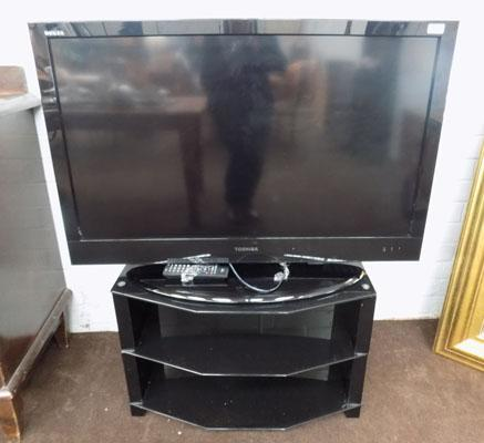 "43"" Toshiba flatscreen TV with stand & remote (remote in office)"