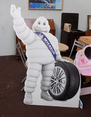 Michelin Man advertising stand