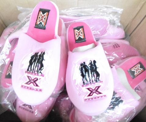 Box of X factor slippers