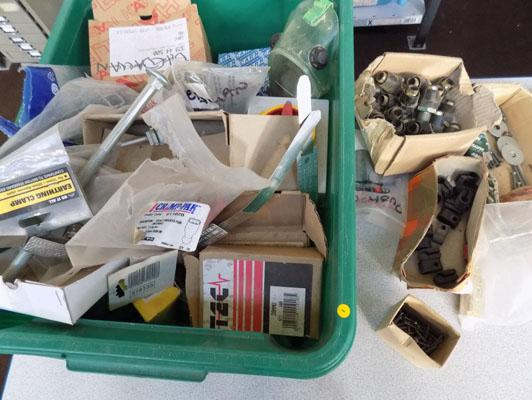 Box of screws, fastenings, bolts etc.
