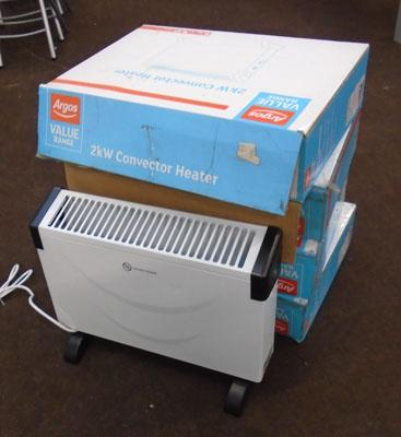 4 x 2kw convector heaters