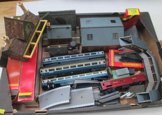 Hornby trains, station etc.