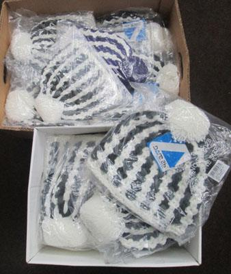 2 boxes of winter hats