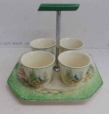 Stylish 4 egg cups & stand