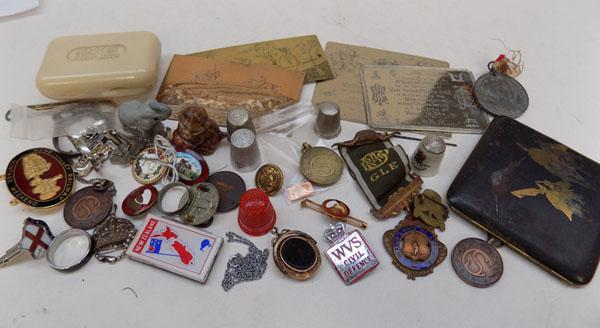 Collection of mixed collectables inc silver items