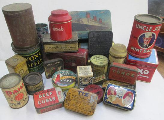 Job lot of old tins