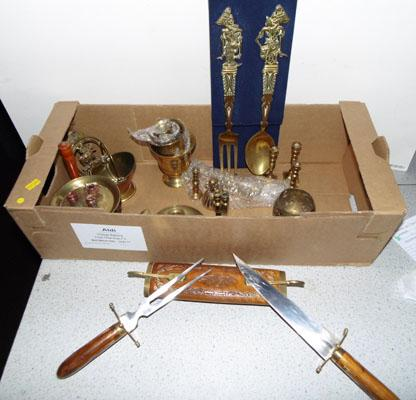 Collection of brass items