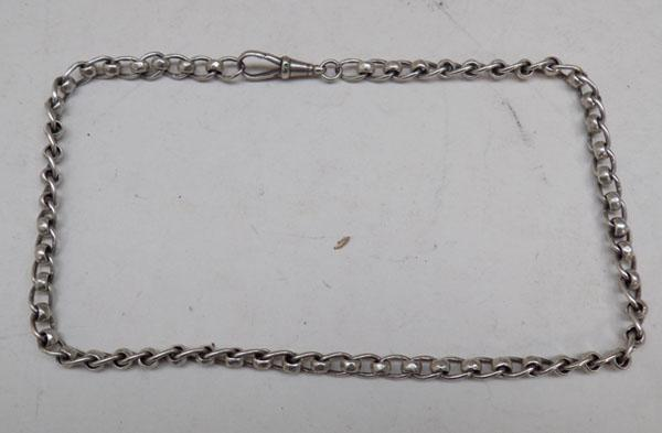 Sterling silver Thomas Fattorini watch chain