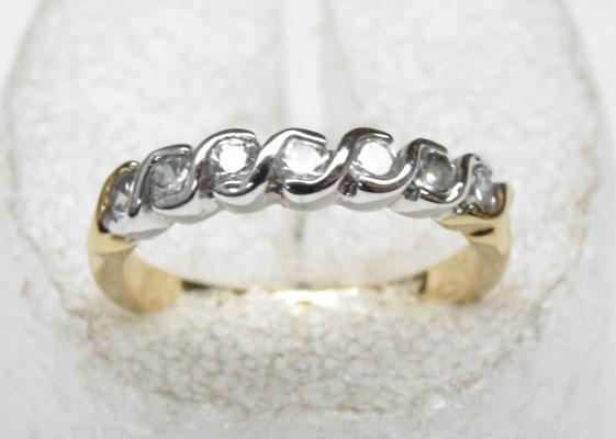 9ct Gold eternity ring size Q1/2