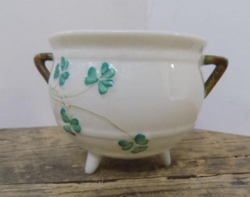 Belleek porcelain cauldron-Shamrock