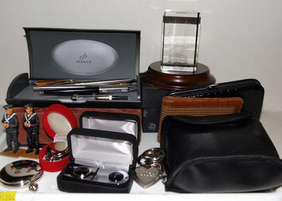 Collection of gents items/pens,watches, lead soldiers