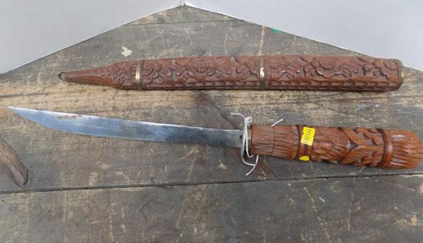 Carved dagger