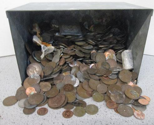 Box of old coins