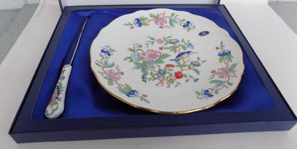 Aynsley-English fine bone china plate/knife
