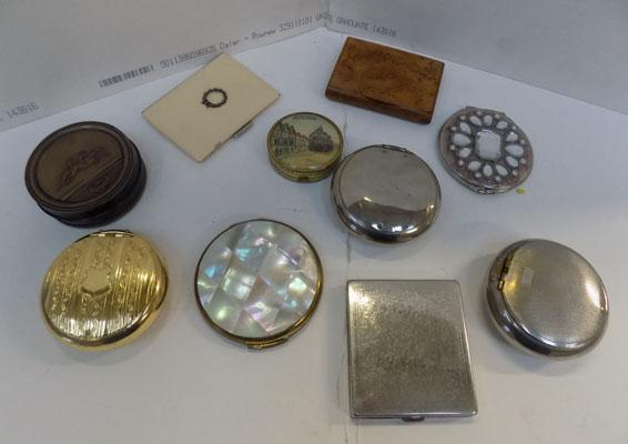 Selection of compacts, some vintage