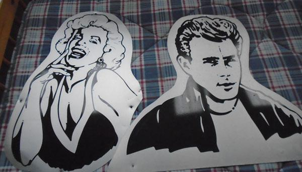 Marilyn Monroe & James Dean signs