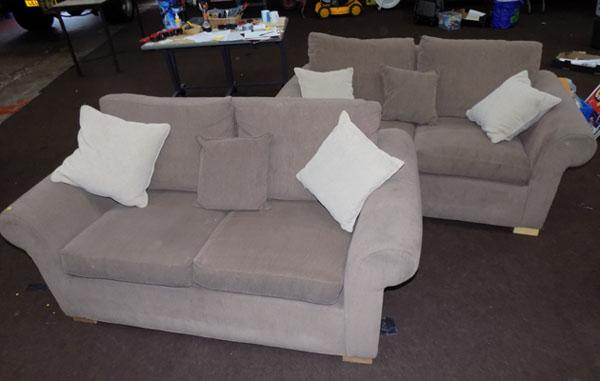 Pair of 2 seater sofas