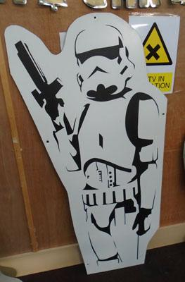 Storm Trooper sign