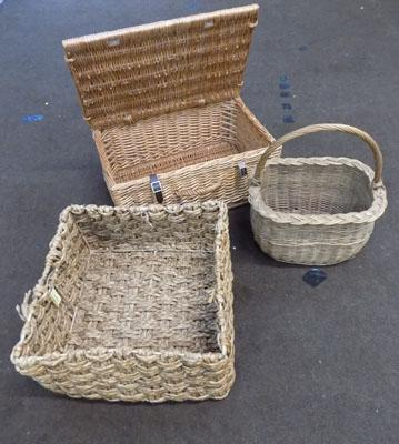 Collection of wicker baskets/cases