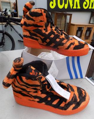Pair of collectable Adidas tiger trainers