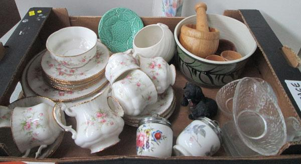 Box of ceramics inc Aynsley and Royal Worcester