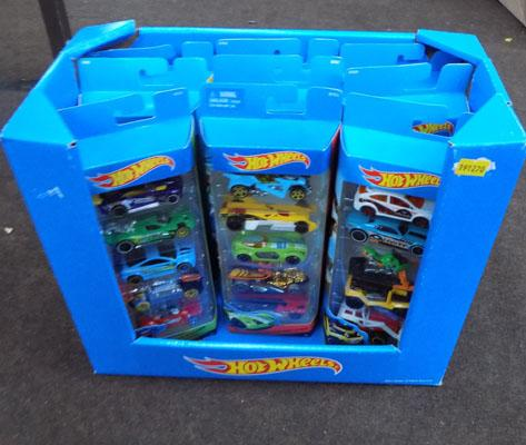 Box of Hotwheels cars