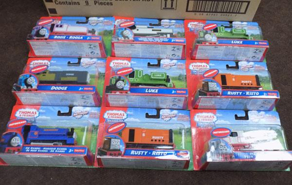 Box of Thomas & friends trackmaster engines