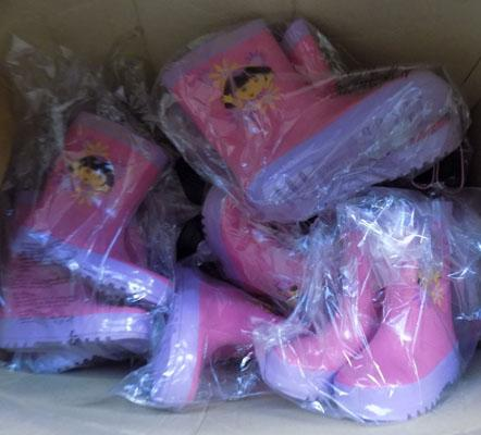 Box of Dora the Explorer wellington boots