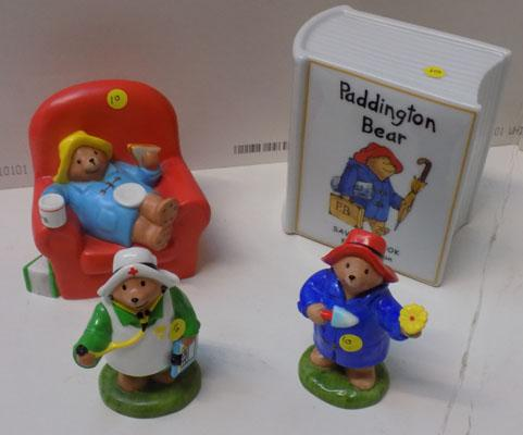 4x Paddington Bear figures (3 Coalport & 1 Royal Worcester)