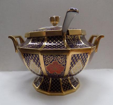 Caverswall soup tureen Romany pattern by A.Hall