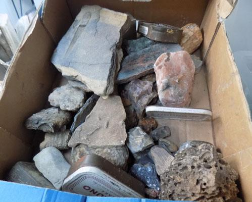 2 Boxes of minerals & fossils