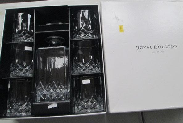 Boxed Royal Doulton decanter & glasses