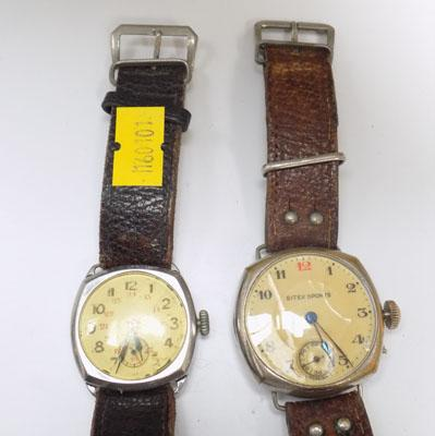 2x Vintage watches Si tex sports