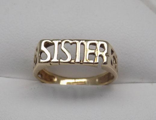 9ct Gold 'Sister' ring