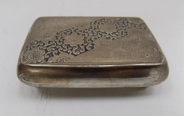 835 Silver trinket box with decorative lid