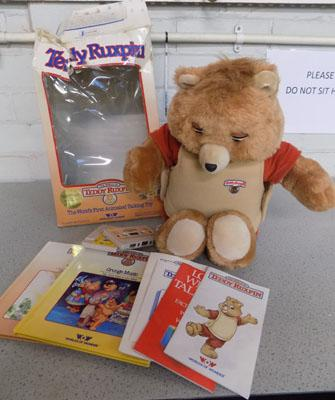 Vintage Teddy Ruxpin with 2 books/tape sets