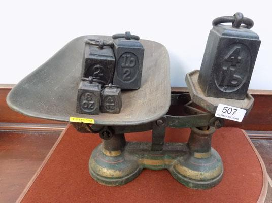 Vintage scales & weights