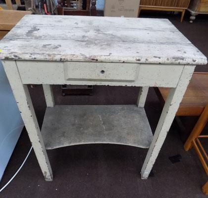 Small table with centre drawer