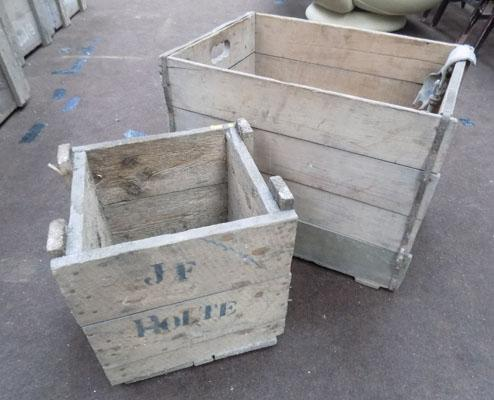 2x Wooden boxes